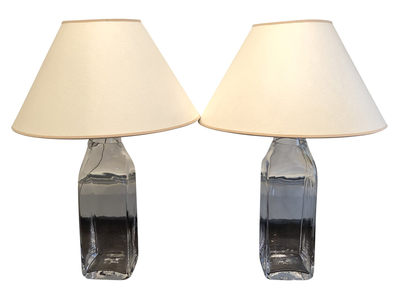 simon pearce woodbury lamps pair