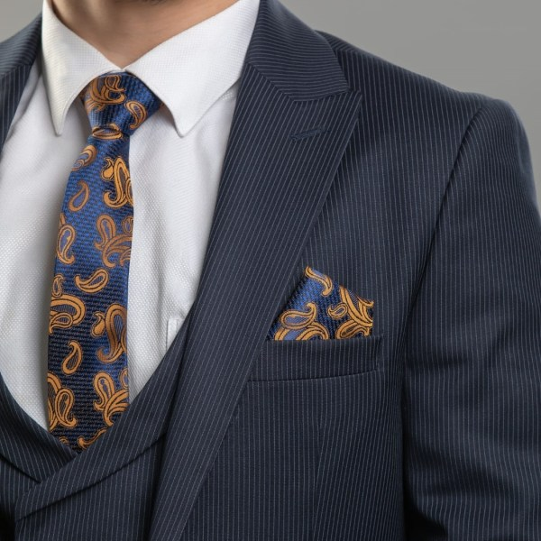 Donatella Navy Blue Striped Men Suits Sale Nairobi