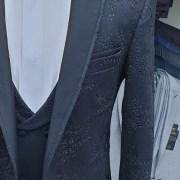 Latest Design Black Men's Tuxedo Slim Fit close up