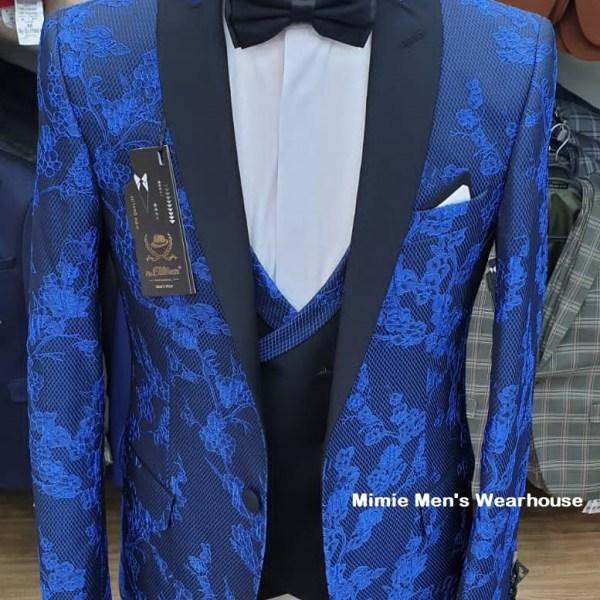 Blue Slim Fit Wedding Suits for Men in Kenya