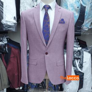 Men Casual Blazer Jacket – Purple