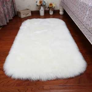 White Woolen Bed Rug