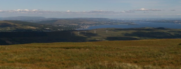 A photo montage of how the wind farm would look from Stronchulin Hill