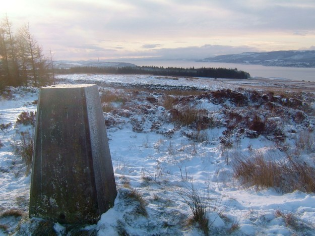 View across the Firth of Clyde from trig point on the Rosneath Peninsula, December 2010.