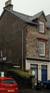 The vacant Allsorts shop is in the centre of Kilcreggan