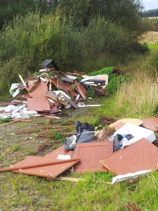 Dumped: a large amount of rubbish appeared overnight