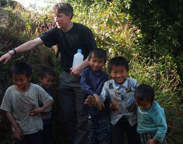 Jamie Taggart on his previous trip to Vietnam, in 2011. Picture by Hannah Wilson