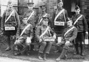The wounded men in their blue uniforms were a familiar sight in the town.This photo was taken by Helensburgh lamplighter Edward Graham, and supplied to the town's heritage trust by hsi grandson Ian MacQuire