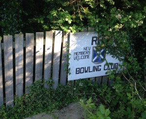 The bowling club is closed - but is still classed as protected open space.