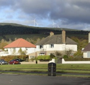 The possible view of the turbines from Cairndhu Point