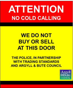 No cold calling (front)