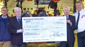 A £1,000 donation to a charity of Mr Peberdy's choice - the RNLI - was made to recognise the gift of the model.