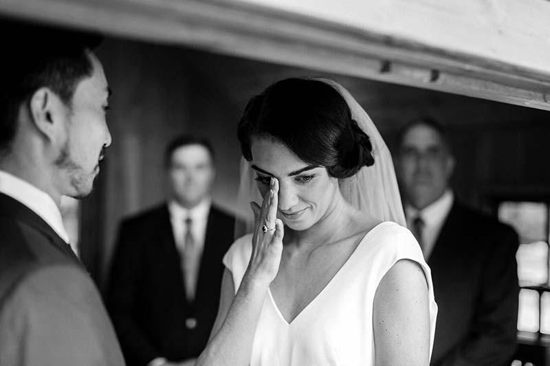 A small wedding ceremony