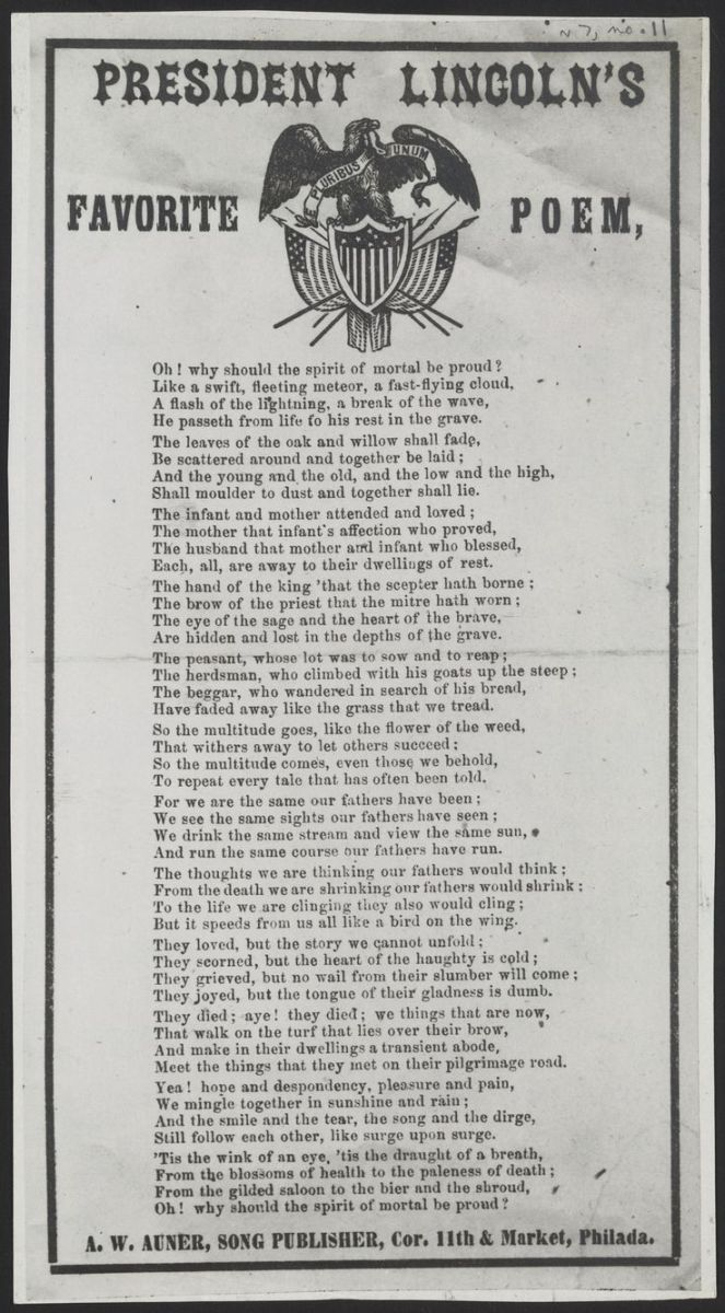 The Irony of Abraham Lincoln's Favorite Poem – The Log Cabin Sage