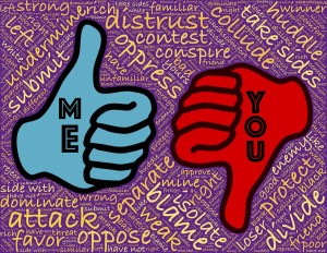 Thumbs up image imprinted Me thumbs down imprinted You