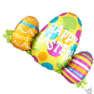 easter banner balloon decoration