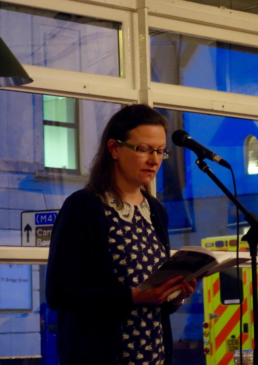 Samantha Wynne-Rhydderch reading from Tango in Stanzas