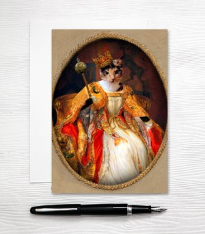 Queen Cat Card