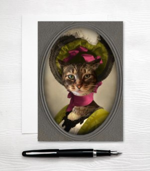 Southern Belle Cat Card