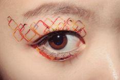 Geometric inspired eye tattoo- temporary