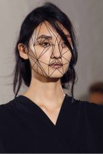 geometric inspired makeup