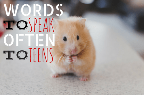 Words to Speak Often to Teens
