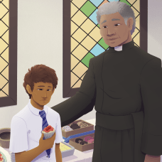 New art: Matías and Father Caines