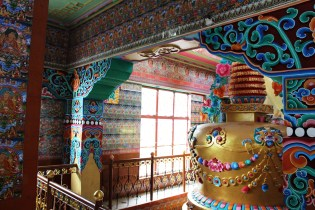 Highly colourful temple