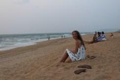 Goan beach at sunset
