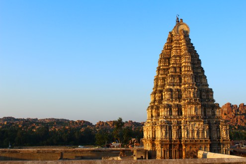 The temple we could see from our room in Hampi