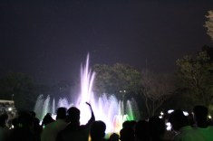 Fountains, lights, and bugs