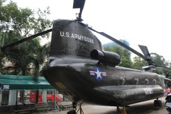 Helicopter left by the Americans