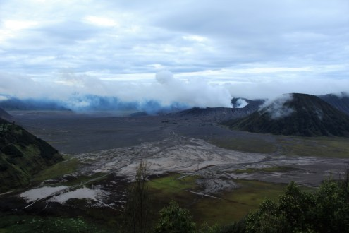 View from the top of Bromo Volcano