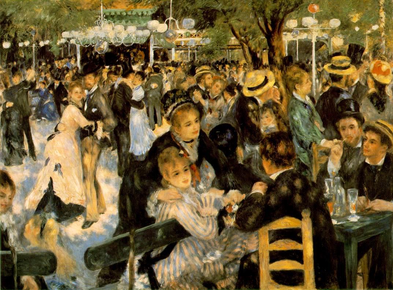Bal au moulin de la Galette, Pierre Auguste Renoir, 1876. Musée d'Orsay.