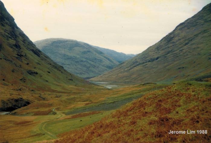 Glen Coe in the Western Highlands of Scotland