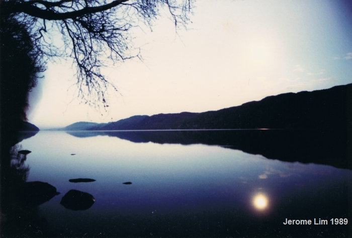 Loch Ness in the Western Highlands of Scotland