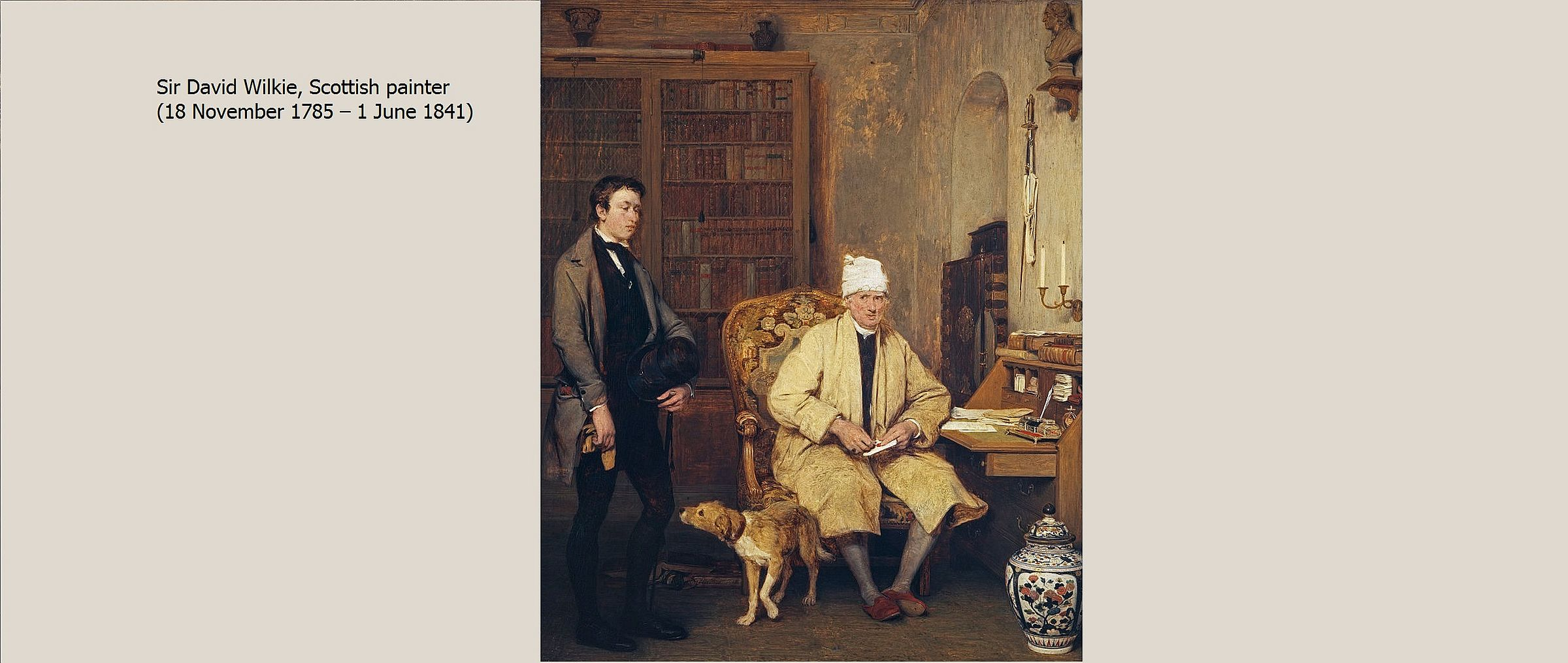 Painting: The Letter of Introduction (1813) by David Wilkie (we've all been in this room)