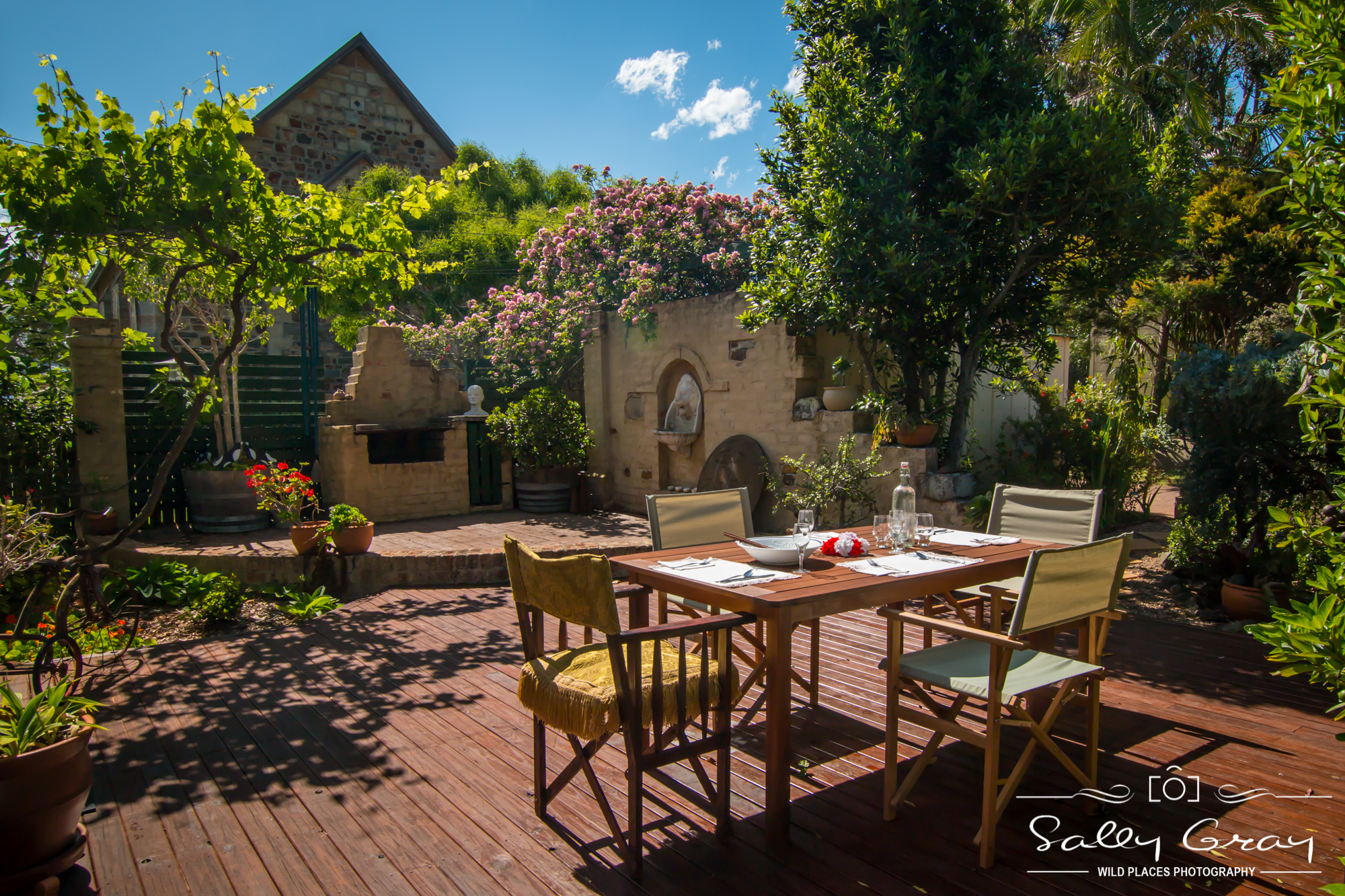 Private courtyard, Milton, South Coast, alfresco, dining