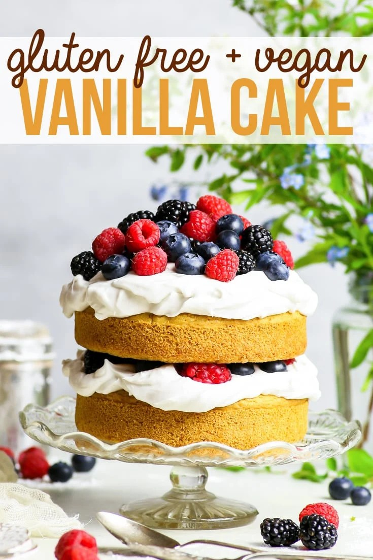 Gluten Free Vegan Vanilla Cake With Summer Berries The