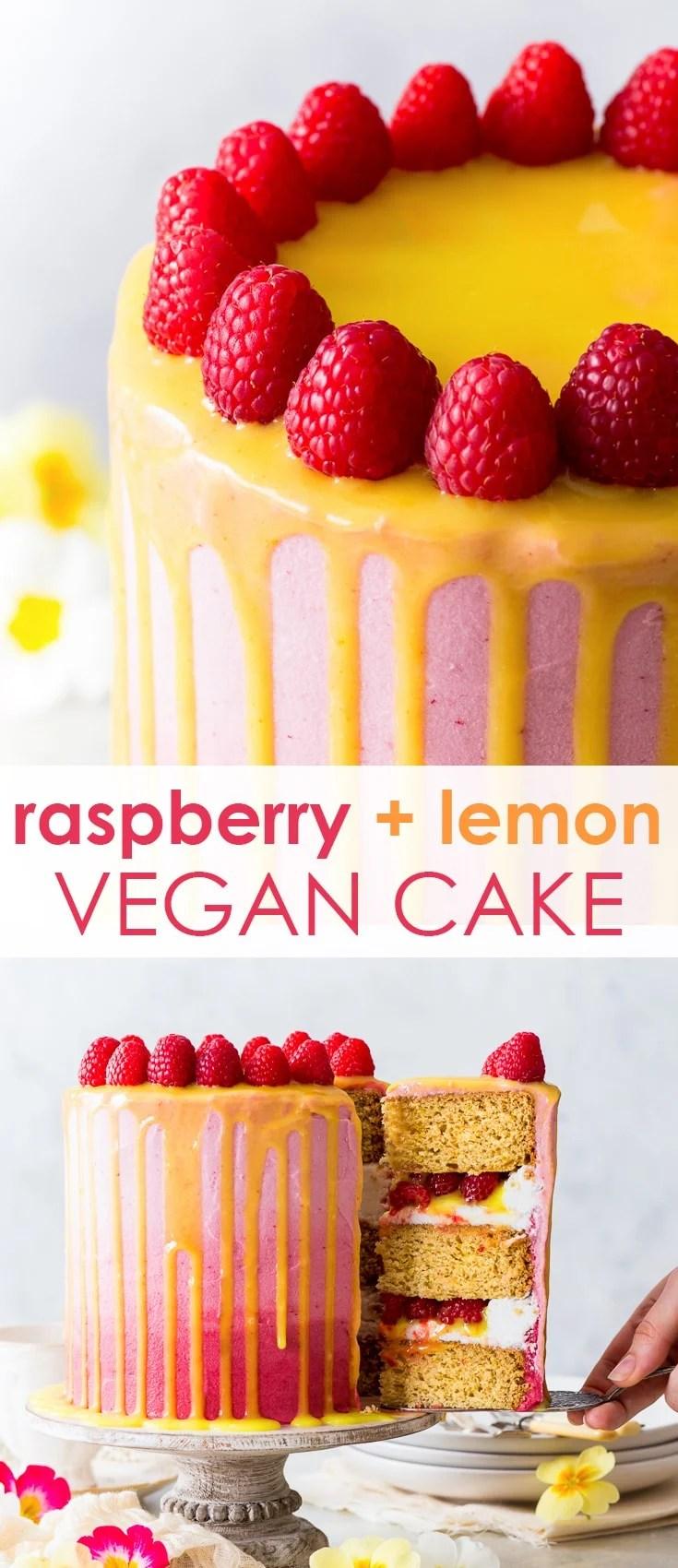 Vegan Raspberry Amp Lemon Cake The Loopy Whisk