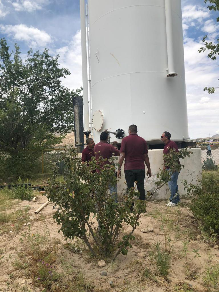 Water tank replaced at Food Bank.