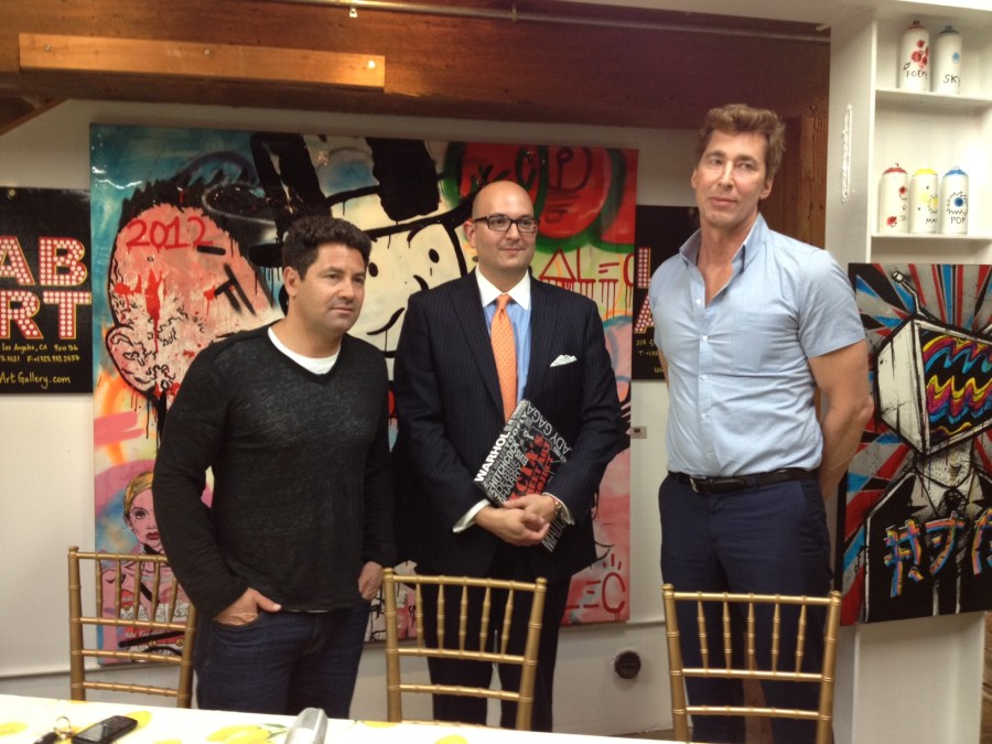 Panelists: (left to right) Fortune 500 Vice President Jay Luchs of CBRE Group , Head of Acquisitions for MOCA, Ivan Illan and Ken Siman, Publisher of the book 'XCIA's Street Art Project'