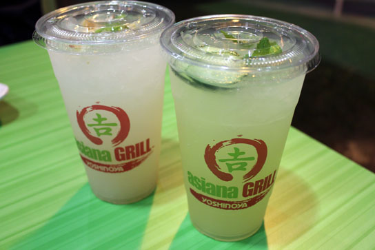 Water Flavored with Lychee, Cucumber, and Lemongrass.
