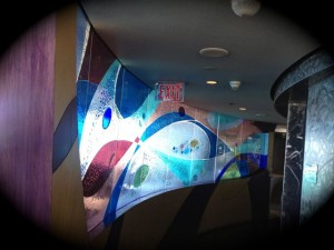 A glass wall at the Encounter Restaurant. (Photo by Nikki Kreuzer)