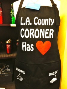 L.A. Coroner's BBQ Apron (Photo by Nikki Kreuzer)