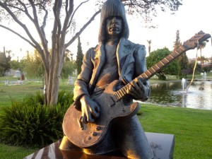 A close-up of Johnny Ramone's grave at Hollywood Forever Cemetery (Photo by Nikki Kreuzer)