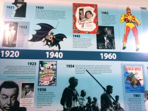 Part of the martial arts pop culture timeline (photo by Nikki Kreuzer)