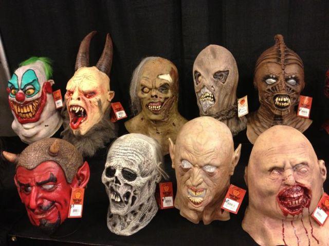 Latex masks for sale at Scare LA (photo by Nikki Kreuzer)