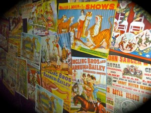 Vintage posters in the Circus maze (photo by Nikki Kreuzer)