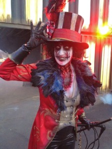 The Ringmaster of Queen Mary's Dark Harbor (photo by Nikki Kreuzer)